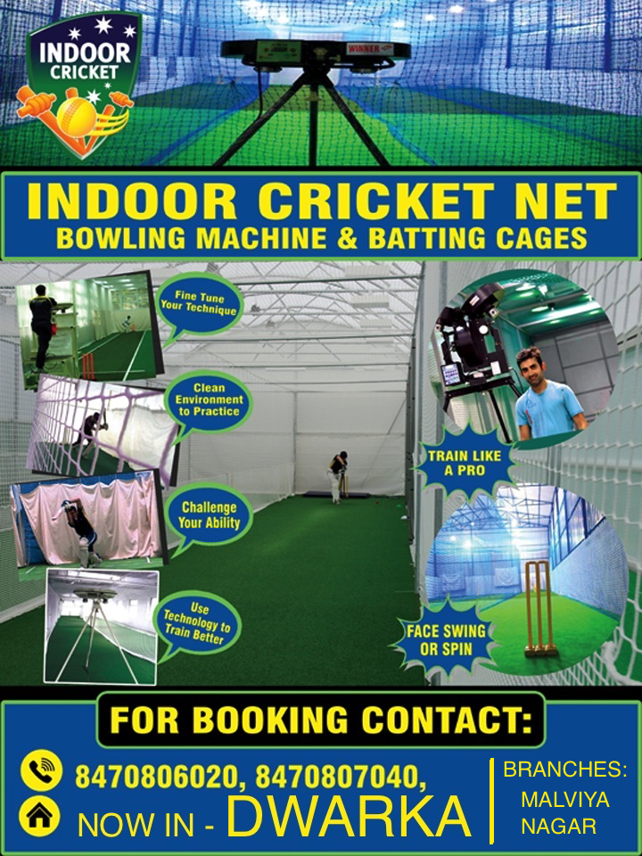 INDOOR CRICKET NETS – NEW DELHI – DWARKA